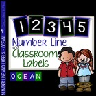 Number Line and Class Labels OCEAN