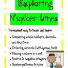 Number Lines, Order/Compare Decimals, Fractions, Negative