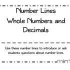 Number Lines Whole Numbers and Decimals - Whole Group Questions