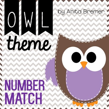 Number Match {Chevron Owl}