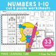 Number Match Worksheets - Cut & Paste Kindergarten