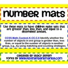 Number Mats: Making Sets - Greater Than, Less Than, Equal To