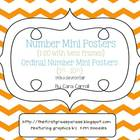 Number Mini Posters {1-20} &amp; Ordinal Number Cards  With a 