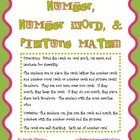 Number, Number Word, & Picture Match