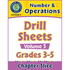 Number & Operations: Drill Sheets Vol. 5 Gr. 3-5 - Common