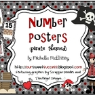 Number Posters {Pirate Themed}