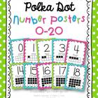 Number Posters {polka dots}