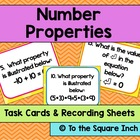 Number Properties Task Cards & Recording Sheets Set