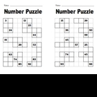 Number Puzzle Frames
