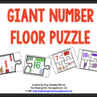 Giant Number Puzzle And Counting Puzzle!  A Numbers And Co