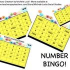 Number Recognition BINGO Game Card Set