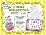 Number Recognition Pack for Numbers1-5