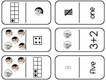 Number Representation Dominoes (1-10)