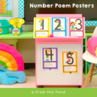 Number Rhyme Posters Stick Kid Cuties Theme