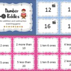 Number Riddle Game - Common Core 1st Grade