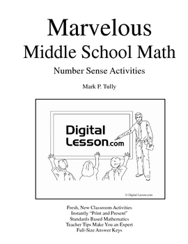 Number Sense Activities eBook for Middle School Math