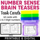 Number Sense Brain Teasers Task Cards
