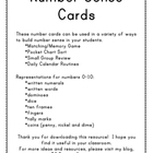 Number Sense Cards