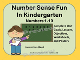 Number Sense Fun 1-10 Unit Printables Common Core Aligned
