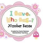 Number Sense Math Center - I Have, Who Has