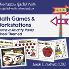 Number Sense Math Centers - School Themed - 11 Math Games 