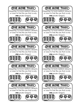 Number Sense - Math Vocabulary Trading Cards and Lesson Plans