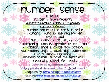 Number Sense Penguin Theme