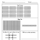 Number Sense Worksheet (K/1)