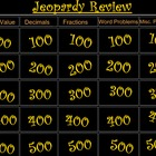 Number Sense and Operations Jeopardy