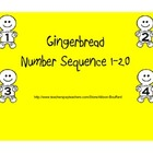 Number Sequence Practice 1-20 Gingerbread Men