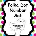 Number Set 1-100 {Polka Dot Theme}