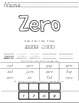 Number Sight Word Sheets Zero-Ten