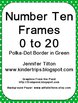 Number Ten Frames 0 to 20 - Polka Dots in Green