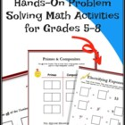 Number Tiles: Problem Solving Math Activities for Grades 5-8