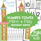 Number Tower - Math Game Center - Number Recognition