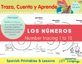 Number Tracing 1-10 Spanish Lesson (Age Level: 3) - Los números