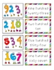 Number Word Match * Math Center * Pocket Chart Activity