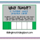 Number Word Practice Cards