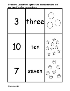 Number, Word, and Object Partner Puzzle