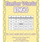 Number Words Bingo