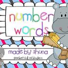 Number Words {Write, Trace, Paste, Color and Find}