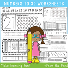 Number Worksheets - Writing &amp; Number Concepts 21 to 30 