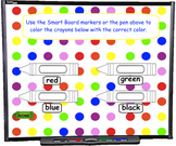 Number and Color Words SMART BOARD Game