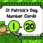 Number cards for St. Patrick's Day (1-20)