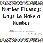 Number fluency Ways to make a number Center