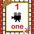 Number line 0-20 Hollywood movie popcorn theme