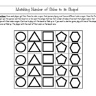 """Number of Sides"" Shapes Game - Common Core K.G. 2, K.G.3, K.G.5"
