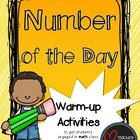 Number of the Day - A Warm-up Math Activity