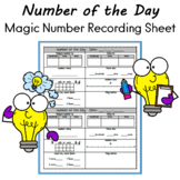 Number of the Day Calendar or Magic Number Recording Sheet Grd. 1