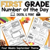 Number of the Day {Fall Fun} First Grade Place Value Practice